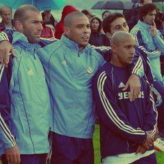 Zidane, Ronaldo and Roberto Carlos
