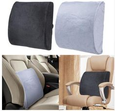 Interior Accessories Car Memory Foam Lumbar Back Pillow Cushion Home Office Car Auto Seat Supports Chair Pillow Beneficial To Essential Medulla