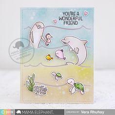 mama elephant | Stamp Highlights: Marine Friends