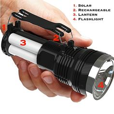 Rechargeable Flashlight By Knight Lighter [New Release] Is the #1 Top Rated 4-in-1 DC or Solar Powered and High Lumen Lantern or Torch Spotlight w/Multiple Settings | Best and Brightest Handheld Ultra Bright LED Lamp | Water Resistant ABS Military Grade Material Knight Lighter http://www.amazon.com/dp/B00Z1DTQHY/ref=cm_sw_r_pi_dp_l4tIwb0WJA4X7