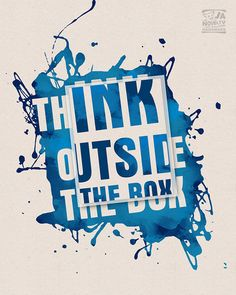 Typographic Print Think Outside The Box Wall by JAnoveltyDeSign