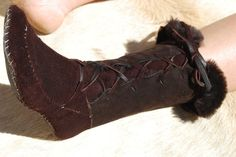 Items similar to Shearling sheep winter moccasin boot lace-up on Etsy Moccasin Boots, Moccasins, Minimalist Shoes, Shearling Boots, Snow Leopard, Lace Up Boots, Combat Boots, Trending Outfits, Winter