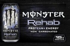 #monsterenery Rehab - Protean. Great source of energy and protein, without a ton of sugar. Great pre, post, and intra workout.