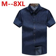 large size7XL 6XL Men Jeans Shirt Cotton Short Sleeve Denim Shirts Men's Single Breasted Patchwork Cowboy Camisas Chemise Homme     Tag a friend who would love this!  US $31.83    FREE Shipping Worldwide     Get it here ---> http://hyderabadisonline.com/products/large-size7xl-6xl-men-jeans-shirt-cotton-short-sleeve-denim-shirts-mens-single-breasted-patchwork-cowboy-camisas-chemise-homme/