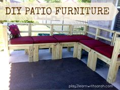 DIY Furniture - Build Your Own Outdoor Seating