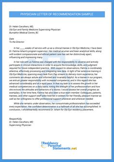 Letter Of Intent Medical School Finest Physician Letter Of Recommendation  Sample. Cover Letter For Pediatrician ...