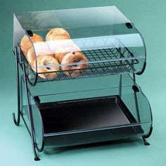 """Cal Mil 1281-2 Two Tier Wire Pastry Display 20"""" x 19 1/2"""" x 20 1/2"""""""