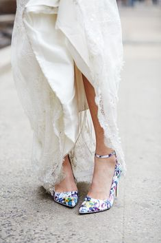 See 16 Adorable New York Couples Tie The Knot At City Hall #refinery29  http://www.refinery29.com/spring-city-hall-weddings-nyc#slide-28  Heels that pack a punch.