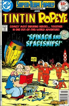 Tintin  meets  Popeye