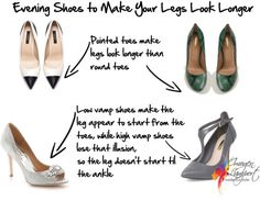Evening Shoes to Make Legs Look Longer