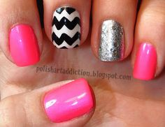 Polish Art Addiction: Chevron Nail Art Day 2