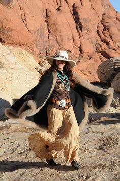 Multi-talented Bobbi Jeen Olson modeling Brit West's fabulous turquoise jewelry. Just love this western outfit.