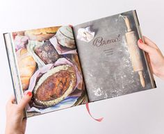Clever creative cookbook. Love the tablecloth turned into bookmark.