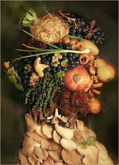 Art illusion by Giuseppe Arcimboldo Pieter Brueghel El Viejo, Giuseppe Arcimboldo, Catherine Of Alexandria, Italian Painters, Italian Artist, Time Painting, Contemporary Artwork, Modern Paintings, Fruit Art