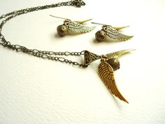 Golden Snitch Necklace & by ViperCoraraDesigns, $20.00