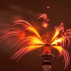 New Year's fireworks in Auckland, New Zealand. Photo by Louis Tan