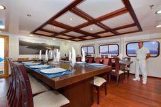 Galapagos Monserat Yacht Dining Area  Galapagos Yachts Captivating Islands Dining Room Inspiration Design