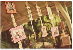 Photobooth decor hanging picture canvases