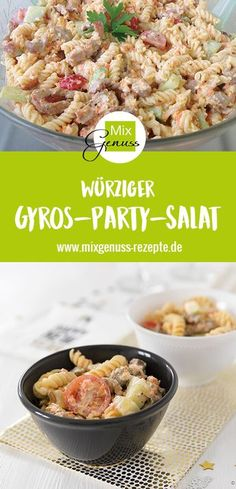 Gyros-Party-Salat - My WordPress Website Grilled Pizza Recipes, Baby Food Recipes, Healthy Recipes, Party Buffet, Wonderful Recipe, Party Snacks, I Love Food, Food And Drink, Dinner
