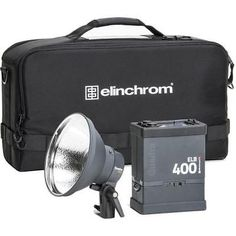 Elinchrom ELB 400 Hi-Sync To Go Kit Quadra HS Head Power Pack and Reflector