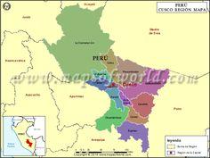 Mapa de Cusco , Mapa Cusco Peru