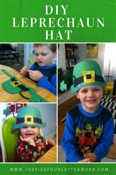 Patrick's Day crafts for kids - FREE Printable Leprechaun Hat Pattern - We love St. Patrick's Day crafts for kids and this leprechaun hat template is so cute and easy to - St Patricks Day Hut, St Patricks Day Crafts For Kids, March Crafts, St Patrick's Day Crafts, Holiday Crafts, Toddler Crafts, Preschool Crafts, Classroom Crafts, Preschool Winter