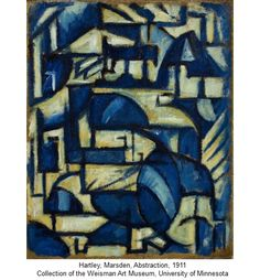 """""""Abstraction,"""" Marsden Hartley, 1911, oil on paper on cardboard, 23 3/4 x 20…"""
