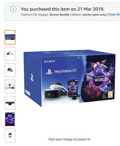 Playstation VR Headset & Camera Bundle - Both Version In The Original Box Pc Console, Vr Headset, Ps4 Games, Sound & Vision, Virtual Reality, Playstation, Amp, The Originals, Ebay