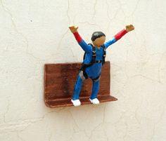 Base Jumping Sport  Original Paper Sculpture by aakritiarts, $50.00