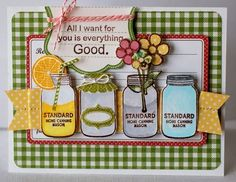 All I want for you... card by Kimber McGray via Jillibean Soup blog.  Unity/Jillibean stamps