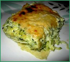 Lasagnes courgettes chèvre weight watchers