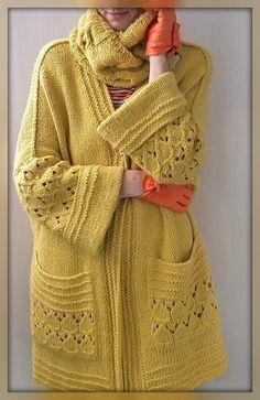 Crochet Coat, Crochet Cardigan Pattern, Knitted Coat, Crochet Clothes, Knitwear Fashion, Crochet Fashion, Sweater Fashion, Knitting Paterns, Knit Patterns
