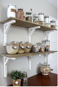 DIY kitchen storage
