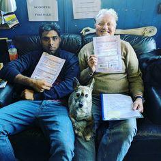 Well done Muhammad and  Leslie for passing your CBT # rebeldoggriders #Mashtherebeldogg #motorcycletraining #das www.rebeldogg.com