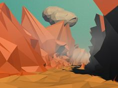 Dribbble - Low Poly Valley by Andrus Valulis #lowpoly