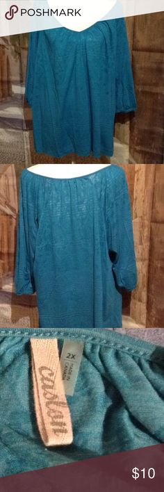Caslon loose fitting top Burn out top with 3/4 sleeve in excellent condition Caslon Tops