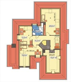DOM.PL™ - Projekt domu HR Lawenda BP 2-garaże CE - DOM TZ9-48 - gotowy koszt budowy Plan Design, Bungalow, Townhouse, House Plans, Floor Plans, Dom, Flooring, How To Plan