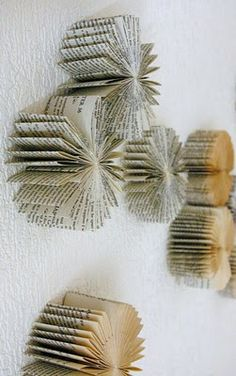 3D Paper pinwheels for wall art