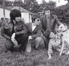 John Entwistle, Keith Moon and Pete Townshend meet the world's fastest greyhound, Yellow Printer, 1968.