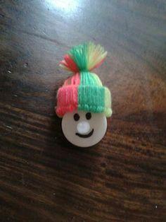 Van een led waxinelicht een leuk sneeuwpopje gemaakt. Erg leuk als hij aan is