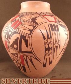 Hopi Indian Pottery by Native American artist Venora Silas