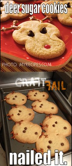 Deer Sugar Cookies – Nailed It! | CraftFail
