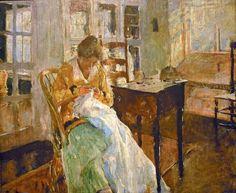 : Charles W Hawthorne - The Dress Maker | art