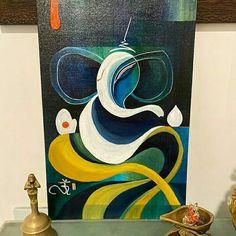 Lord Ganesha Paintings, Ganesha Art, Krishna Painting, Ganesha Drawing, Doodle Art Drawing, Mandala Drawing, Buddha Drawing, Small Canvas Art, Diy Canvas Art