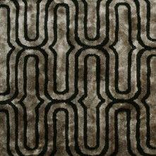 Black Geometric Velvet