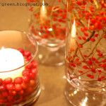 Homemade Holiday Centerpiece - Very Cheap