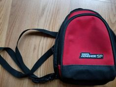 Original Red Nintendo Game Boy Advance SP Red Carrying Case Mini Backpack Mini Backpack, Backpack Bags, Drawstring Backpack, Retro Game Systems, Nintendo Game Boy Advance, Retro Video Games, Nylon Bag, Travel Bag, Vintage Items