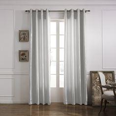 Modern Minimalist White Solid Energy Saving Curtain  #curtains #decor #homedecor #homeinterior #grey