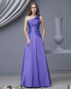 One Shoulder Taffeta Floor Length Bridesmaid Dress,US$232.98 ,0bd01261  Read more - http://www.theweddinggownsite.com/index.php?r=one-shoulder-taffeta-floor-length-bridesmaid-dress.html