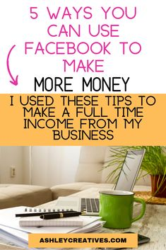 Think Facebook is just a place to scroll and react to funny pictures? No! It's a place to get sales and money for your small business. Here are 5 tried and true methods to get money and sales online through Facebook. And they work so much better than dropping links (which Facebook hates). These are real ways to get more sales and more income coming in for your business. #facebook #facebookmarketing #entrepreneurship